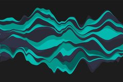 Dynamic abstract background with color waves. Vector illustration. Abstract background with dynamic effect. Color waves royalty free illustration