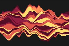 Dynamic abstract background with color waves. Vector illustration. Abstract background with dynamic effect. Color waves Stock Image