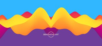 Abstract background with dynamic effect. Futuristic technology style. Motion vector illustration Royalty Free Illustration