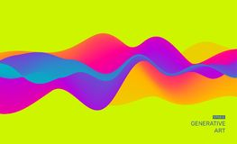 Abstract background with dynamic effect. Futuristic Technology Style. Motion Vector Illustration Stock Photo