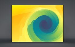 Abstract background with dynamic effect. Motion vector Illustration. Trendy gradients. Rotation and swirling movement. Can be used. For advertising, marketing royalty free illustration