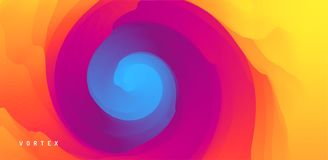 Abstract background with dynamic effect. Motion vector Illustration. Trendy gradients. Rotation and swirling movement. Can be used. For advertising, marketing vector illustration
