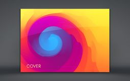 Abstract background with dynamic effect. Motion vector Illustration. Trendy gradients. Rotation and swirling movement. Can be used. For advertising, marketing stock illustration