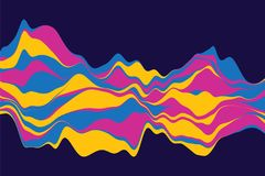 Dynamic abstract background with color waves. Vector illustration. Abstract background with dynamic effect. Rainbow Lines Design royalty free illustration