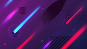 Abstract background  with dynamic elements. Vector illustrated abstract background  with dynamic motion geometric elements Stock Photo