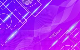 Abstract background. Dynamic glowing shapes. Trendy design. Bright color backdrop. Random lines composition. Vector. Illustration royalty free illustration