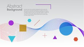Abstract background with dynamic linear waves.For space text colorful Vector illustration in flat minimalistic style space for tex vector illustration