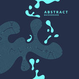 Abstract background with dynamic linear waves and splashes. Vector illustration. In flat minimalistic style Royalty Free Illustration