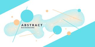 Abstract background with dynamic linear waves. Vector illustration in flat minimalistic style vector illustration