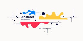 Abstract background with dynamic linear waves. Vector illustration. Abstract background with dynamic splash. Vector illustration in flat minimalistic style royalty free illustration