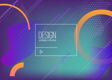 Abstract background with dynamic shape composition. Design element for poster, card, flyer,presentation, brochures,cover. Vector illustrations Stock Image