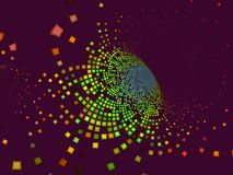 Abstract background dynamic techno. Abstract background digital techno, dynamic  disco effect Stock Photography