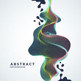 Abstract background with a dynamic waves, lines and splashes in a bright colorful style Stock Photos
