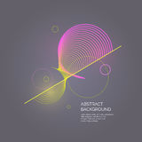 Abstract background with a dynamic waves. Vector illustration Royalty Free Stock Photography