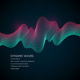 Abstract background with a dynamic waves. Royalty Free Stock Image