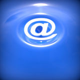 Abstract background with e-mail symbol. Abstract blue water background with e-mail symbol Stock Images