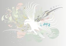 Abstract background with an eagle. Vector illustration stock illustration