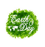 Abstract Background for Earth Day Lettering, Green Grunge Texture Royalty Free Stock Image