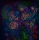 Abstract background with east ornate lace Royalty Free Stock Photography