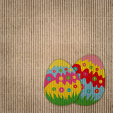 Abstract background with easter eggs decoration Royalty Free Stock Photos