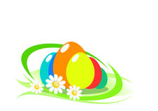 Abstract background with easter eggs. Illustration stock illustration
