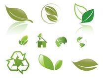 Eco icon set vector Stock Photo