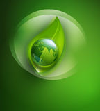 Abstract background for ecological design with a leaf, a Royalty Free Stock Image
