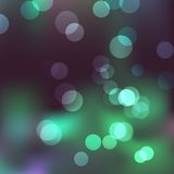 Abstract background with effect of bokeh in cold colors Royalty Free Stock Images