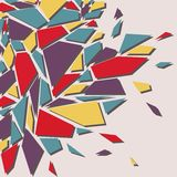 Abstract background. The effect of broken glass.  royalty free illustration