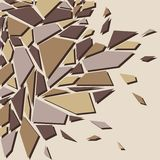 Abstract background. The effect of broken glass.  Stock Images