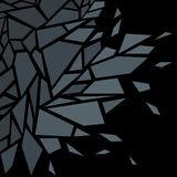 Abstract background. The effect of broken glass. Black.  royalty free illustration