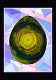 Abstract background with an egg.  Royalty Free Illustration