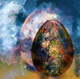 Abstract background with egg. Art abstract background with egg stock illustration