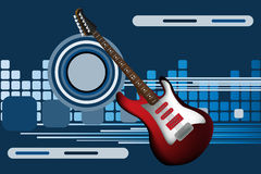 Abstract background with electric guitar. Graphic illustration of abstract background with electric guitar Royalty Free Stock Photos