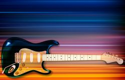 Abstract background with electric guitar. Abstract blur music background with electric guitar Royalty Free Stock Photography