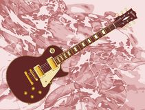 Abstract Background Electric Guitar. Classic  solid blues electric guitar over an abstract background of pink Royalty Free Stock Image