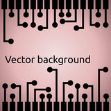 Abstract background with electric pins linear bars. Vector Stock Photo