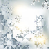 Abstract background with elements of geometric shapes, triangle Stock Photography