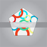 Abstract background elements. With place for your text Royalty Free Stock Photos
