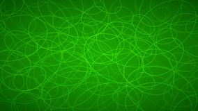 Abstract background of elipses. Abstract background of randomly arranged contours of elipses in green colors Royalty Free Illustration