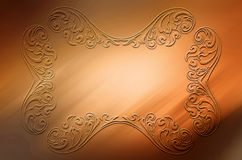 Abstract background with embossed ornament. For creative design needs Royalty Free Illustration
