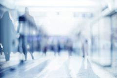 Abstract blur people background, silhouettes of unrecognizable people royalty free stock photos