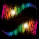 Abstract Background - Equalizer. Abstract Background - Multicolor Equalizer on Black Background / Vector royalty free illustration