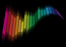 Abstract Background - Equalizer. Abstract Background - Multicolor Equalizer on Black Background / Vector Royalty Free Stock Image