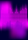 Abstract Background - Equalizer. Party Background - Violet / Magenta Equalizer on Dark Background / Vector Stock Images