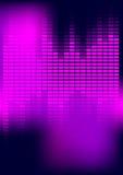 Abstract Background - Equalizer. Party Background - Violet / Magenta Equalizer on Dark Background / Vector vector illustration