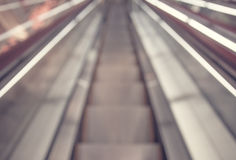 Abstract background of escalator at office interior Royalty Free Stock Photography