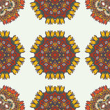 Abstract background with ethnic ornament pattern. Geometric ethnic ornament seamless pattern. Endless background for card template, greetings, invitations or Stock Photography