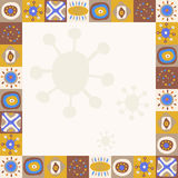 Abstract background with ethnic ornaments simple. Abstract background with a ethnic ornaments simple Stock Photography