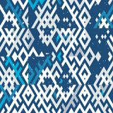 Abstract background in ethnic style. Scandinavian motifs. Seamless pattern of geometric shapes Stock Image